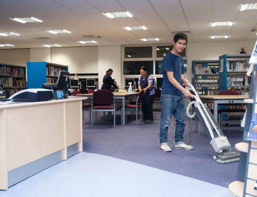 School cleaning library